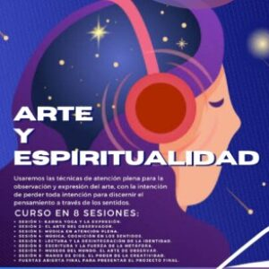 Logo del grupo Arte y Espiritualidad.   Profesor: Jeeru Leonato Curso 8 sesiones Sabado-11am